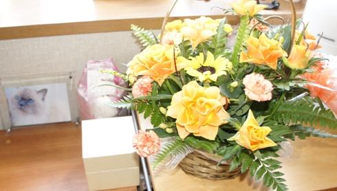 5)お花もいただきました