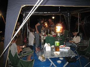 箕面キャンプ夜