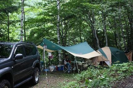 南乗鞍キャンプ二日目テント