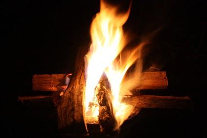 南乗鞍キャンプ焚き火