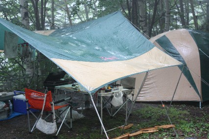 南乗鞍キャンプ3日目雨