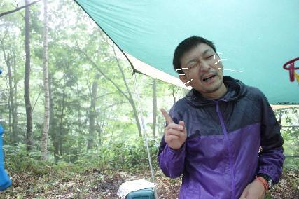 南乗鞍キャンプ3日目雨しかめ面