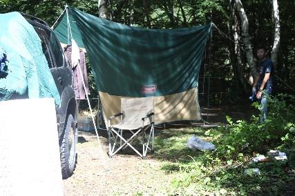 12南乗鞍キャンプ片付け2