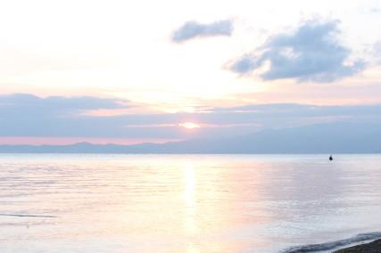 12.10琵琶湖畔キャンプ3朝日