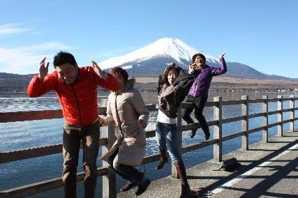 13お正月山中湖富士山ジャンプ