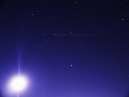 P1171280夕月と航跡