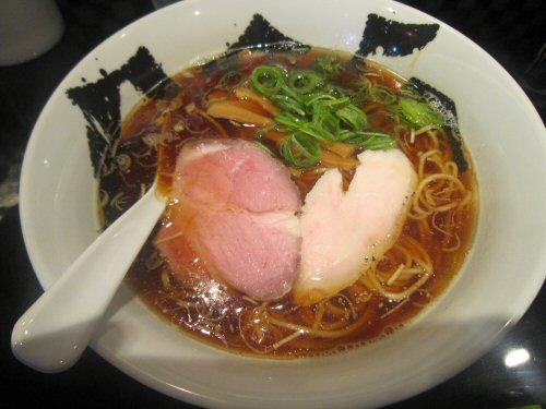 煮干醤油ラーメン(¥750)