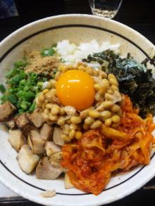 ソラトブ ドンブリ in 愛知-豚キムチ納豆まぜそば(¥850)