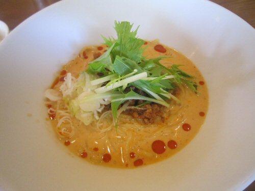 ソラトブ ドンブリ in 愛知-冷やし豆乳担々麺(¥780)