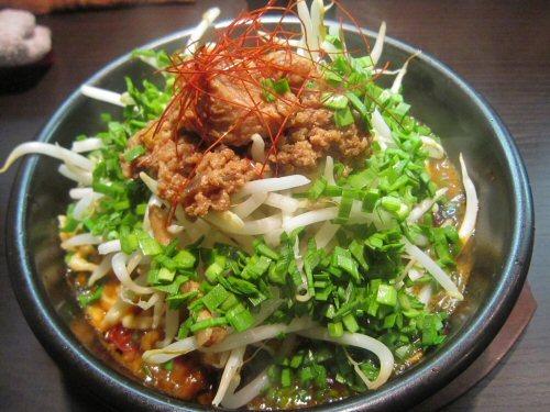 ソラトブ ドンブリ in 愛知-鍋焼きスープ辛まぜそばwithきのこ