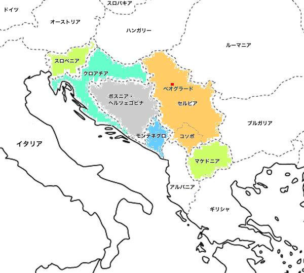 バルカン諸国地図