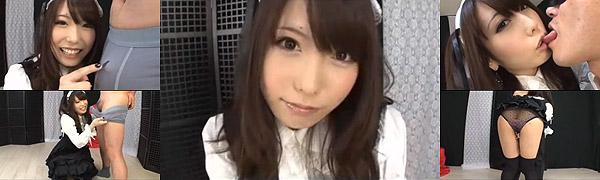 有村千佳ちゃんがゴスロリコスプレで可愛く小悪魔痴女プレイ