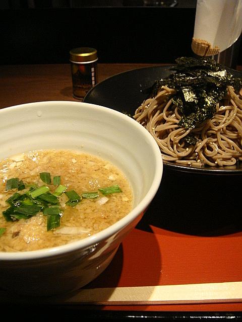もつ煮つけ麺@蕎麦COMBO