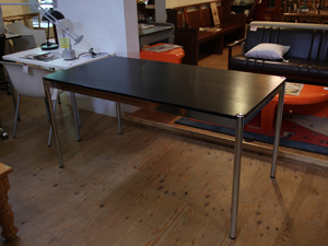 120915 USM-ハラーテーブルW150 ブラック2 オフィス家具 ダイニングテーブル  オフィスデスク