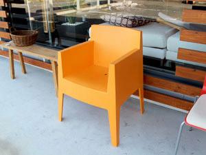 121102.driade TOYチェア オレンジ スタッキング ガーデンチェア JPG