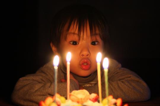 4歳の誕生日を迎えた次男