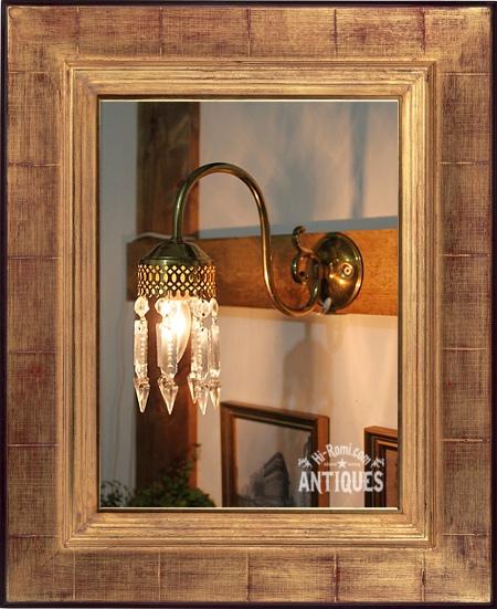 真鍮カップアロープリズムの1灯ウォールランプアンティークブラケット