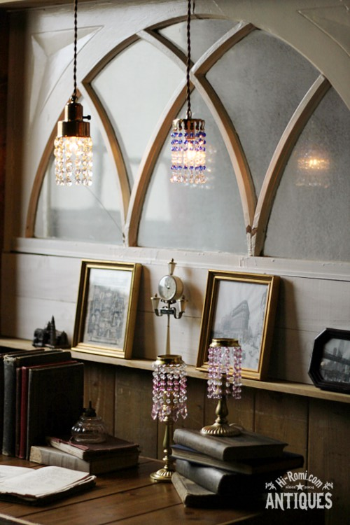 アンティーク ヴィンテージ 照明 ランプ ビーズランプ プリズム シャンデリア Hi-Romi.com ハイロミドットコム