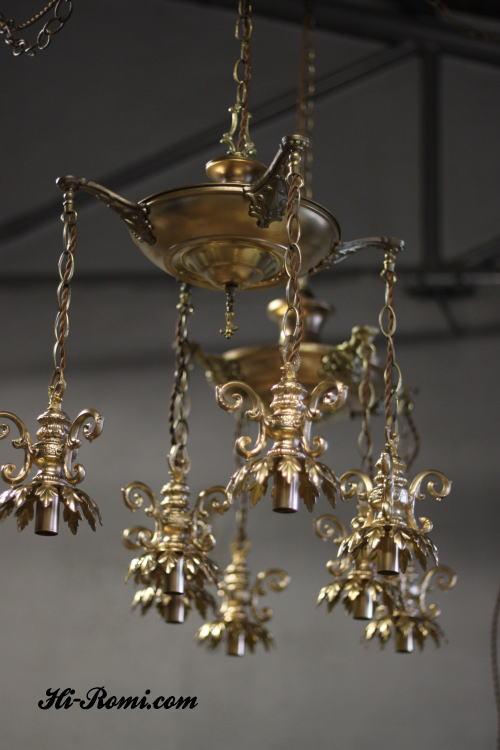 ランプ製作 販売 アンティーク ヴィンテージ インダストリアル シャンデリア 修理 オーバーホールなど Hi-Romi.com 20121001