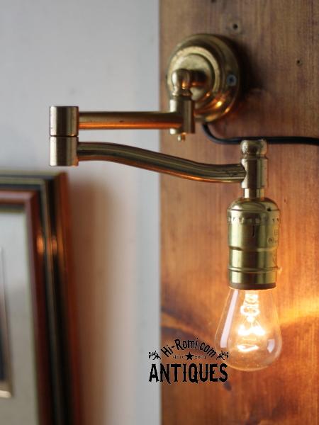 LEVITONソケットスウィングアーム壁掛ライト/アンティーク照明
