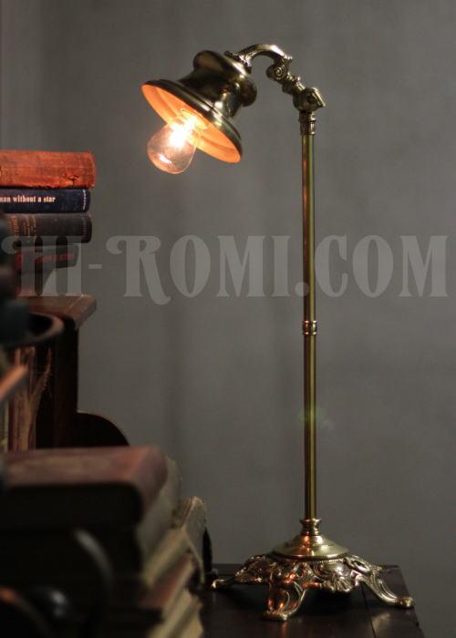Hi-Romi.com ハイロミドットコム アメリカンアンティーク ヴィンテージ 真鍮製デスクライト20131023-1