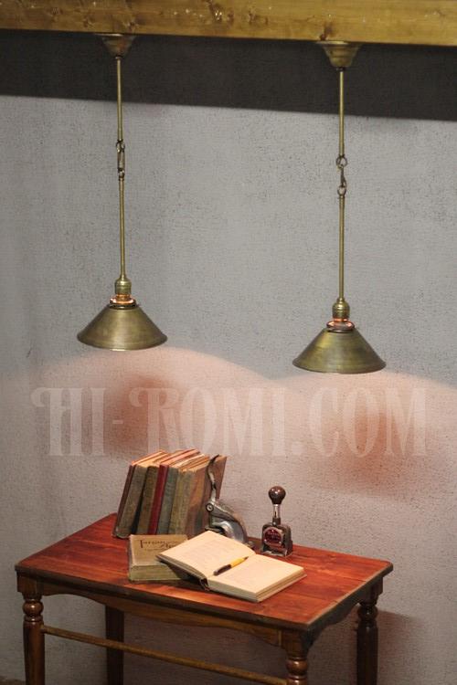 工業系 インダストリアル アンティーク ヴィンテージ 真鍮製 ペンダントランプ シーリングライト 壁掛けランプ兼用 ウォールブラケット 照明計画 建築 設計 デザイン 店舗設計 新築 リノベーション