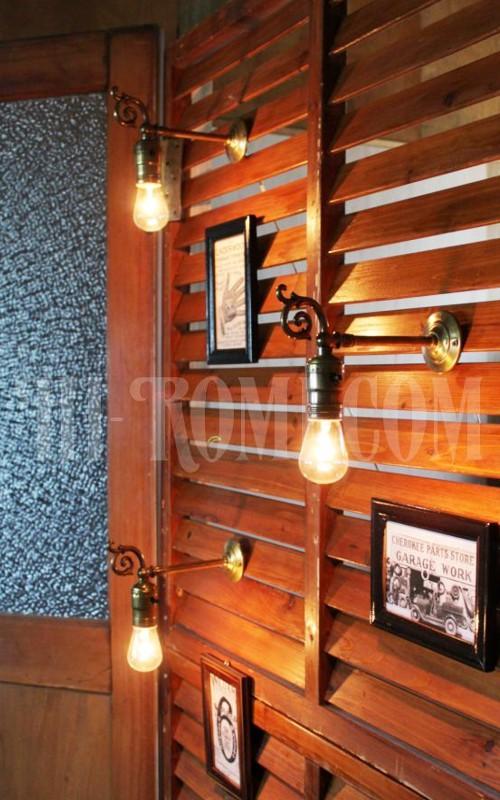 ヴィンテージヴィクトリアン調真鍮飾りのブラケットランプ/アンティーク照明/ 店舗 設計 建築 リノベーション 照明計画
