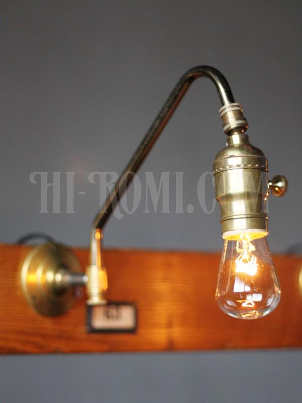 アメリカヴィンテージ工業系確度調整付きファットボーイソケットブラケットランプA/インダストリアルアンティークライト照明