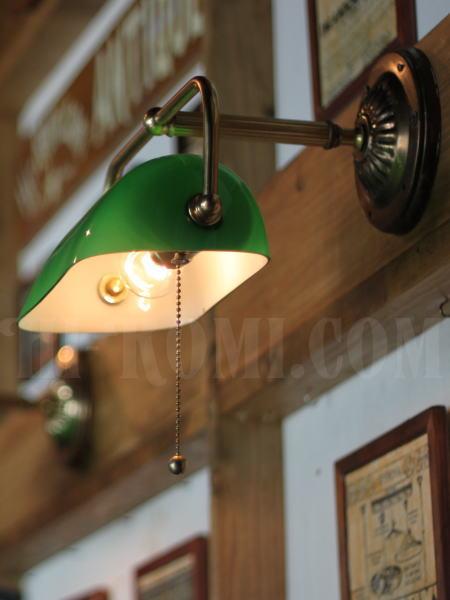 USAヴィンテージバンカーズシェード壁掛ライト真鍮製B/工業系アトリエ照明店舗 設計 デザイン 照明 計画 修理 輸入 販売 関西 神戸 Hi-Romi.com ハイロミドットコム