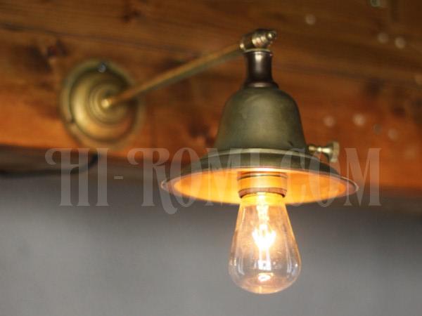 アメリカンヴィンテージベル型シェードストレートアームブラケットランプC/アンティーク工業系/店舗 設計 デザイン 照明 計画 修理 輸入 販売 関西 神戸 Hi-Romi.com ハイロミドットコム