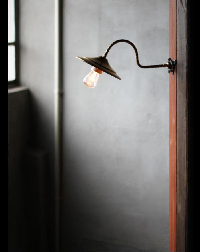 USA真鍮シェード工業系壁掛ライトA/アンティークウォールランプ