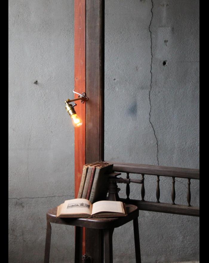 工業系壁掛ライト角度調整付/アンティークランプ照明ブラケット