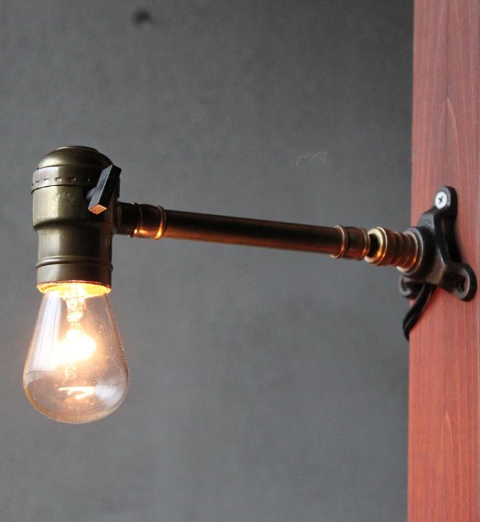 工業系LEVITON角度調整付真鍮ウォールランプ/アンティーク照明 YOL-12-19