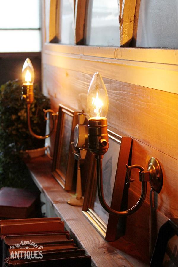 真鍮アーム1灯ブラケットウォールランプA/アンティーク工業系