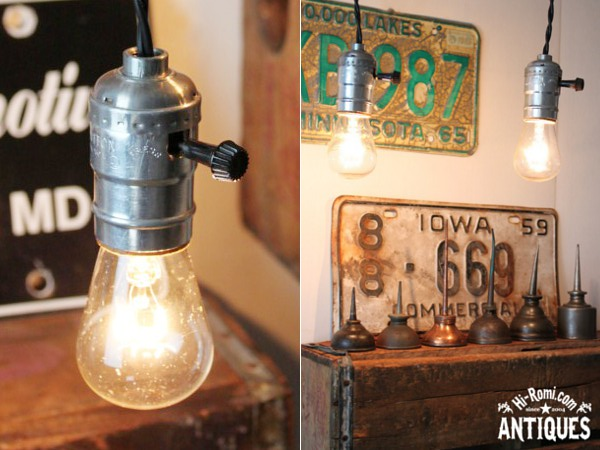 アルミソケットペンダントライトTS2/アンティークランプ工業照明