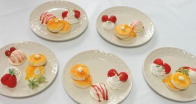 ホットケーキのアクセサリートレー