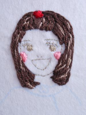 刺繍のバッグチャーム