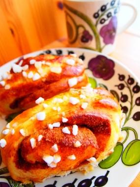cinnamon roll × purple paratiisi