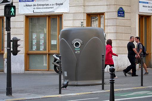 パリのゴミ箱