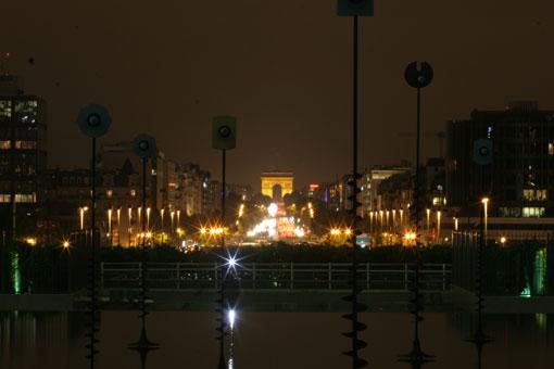 ラ・デファンスの夜景