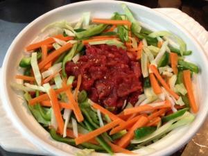 野菜たっぷりプルコギ風ピリ辛鍋4