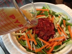 野菜たっぷりプルコギ風ピリ辛鍋5
