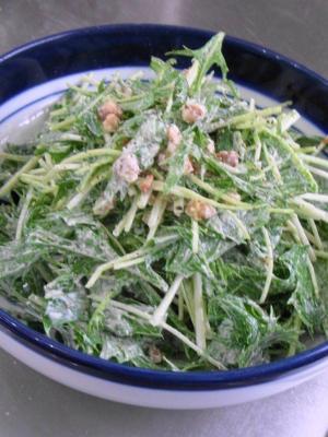 水菜のシーザーサラダ