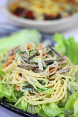 切り干し大根のスパゲティサラダ