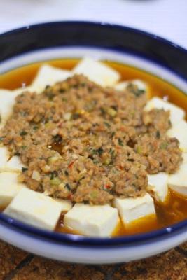 蒸しマーボー豆腐