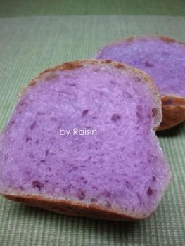 20131025紫芋カップパン byレーズン酵母3