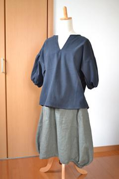 18ドロップシャツとバルーンスカート1