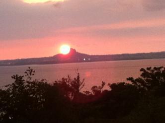海岸線夕陽