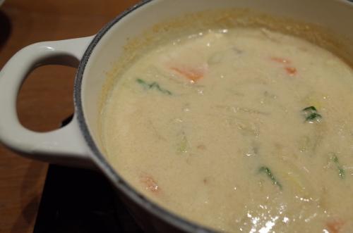 たらTARAスープ(豆乳)