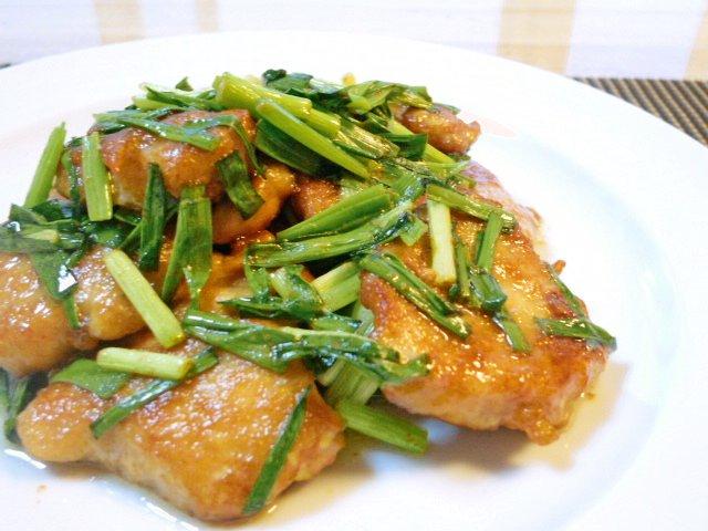 鶏胸肉のねぎマヨ炒め♪3